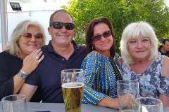 Enjoying a beer in our beer garden